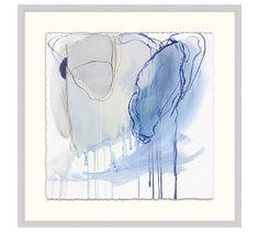 Feeling Blue Framed Wall Art #potterybarn #originalartbytriciastrickfaden