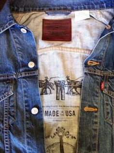 Levi's x Brooks Brothers Made in USA denim trucker
