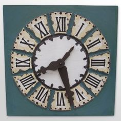 "36"" dia clock. Rustic"