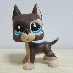 Hasbro Littlest Pet Shop Collection LPS Figure RARE Brown Great Dane Dog Puggy