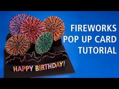Peter Dahmen Papierdesign fireworks pop up card tutorial. Free template here: http://peterdahmen.de/fireworks_pop_up_card_template.pdf