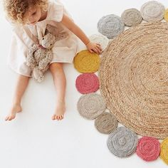 Rug of my dreams   This gorgeous Armadillo & Co rug is made of the softest hemp and wool and is perfect for nurseries and playrooms.