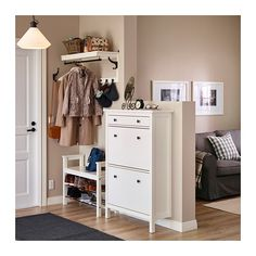 HEMNES Shoe cabinet with 2 compartments IKEA Helps you organize your shoes and saves floor space at the same time. HEMNES Shoe cabinet with 2 compartments IKEA Helps you organize your shoes and saves floor space at the same time. Ikea Hallway, Hallway Shoe Storage, Ikea Entryway, Hallway Furniture, Bench With Shoe Storage, Hallway Ideas, Entryway Ideas, Furniture Ideas, Shoe Cabinet Entryway