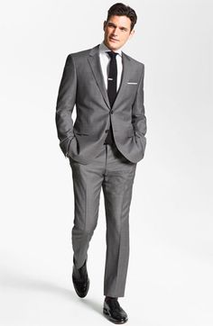 BOSS HUGO BOSS 'James/Sharp' Trim Fit Wool Suit available at #Nordstrom  WOOL TIE