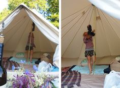 Would love to have a canvas bell tent. BEAUTIFUL! Also, the blog is a good read with lots of great photos.