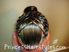 Hairstyles for girls, cute hairstyles & tutorials for waterfall braids, fishtail braids, how to french braid, dutch braid & prom hairstyles. Gym Hairstyles, Little Girl Hairstyles, Braided Hairstyles, Gymnastics Hairstyles, Updo Hairstyle, Unique Hairstyles, Everyday Hairstyles, Wedding Hairstyles, French Braid With Weave