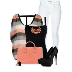 Coral and black*