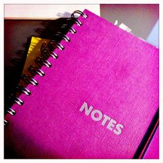 Pink notebook. iPhoneography by Kate England.