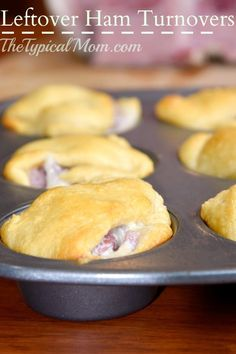 The best leftover ham recipe you will ever make! Use your holiday leftovers to make turnovers or a ham rollup that your whole family will enjoy!