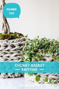 We love a cute handmade homeware accessory and this chunky knit basket is perfect! | Downloadable PDF at LoveCrafts.com