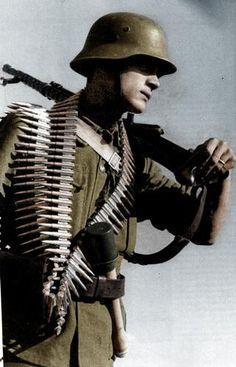 Hungarian machine gunner.