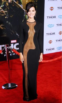 This Azzaro dress looked amazing on Jaimie Alexander, AND got people talking // #celebritystyle