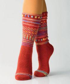 Socken im Mustermix by Charles D. Gandy, R0240 - Gratisanleitung