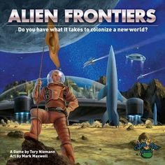 Alien Frontiers - Using dice that represent your spaceships, you compete to try and be the best at colonizing a new planet.  Retro 50's sci-fi theme is awesome.