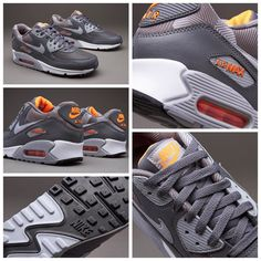 Nike Sportswear Air Max 90 Print - Dark Grey / Wolf Grey / White / Total Orange قیمت:  تومان کد محصول:  (فقط سایز  و ) استعلام موجودی و ثبت سفارش با کد محصول در تلگرام