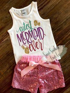 Cutest Mermaid Ever, Mermaid Hair,Toddler Tank Top,Girl Racerback Tank,Girl Mermaid Shirt,Beach shir
