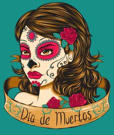 """The Day of the Dead, """"El Día de Muertos"""" is a Mexican celebration with pre-Hispanic roots. Coinciding with other catholic celebrations, the Day of the Dead. Photo Illustration, Digital Illustration, Illustrations, Mexican Celebrations, All Souls Day, Stuck In My Head, Manicure At Home, African Culture, Day Of The Dead"""