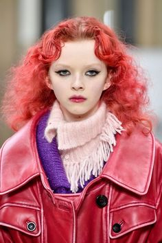 If there was one stand-out hair colour on the autumn/winter 2018 catwalks, it was bold, bright red. British colourist Josh Wood dyed model Ez's hair rich garnet at Alexander Wang, created a custom scarlet hue for Songhwa Oh to close the show at Marc Jacobs and made over a handful of the models at [b]Miu Miu[/b] with a dramatic cherry hue. If you've ever considered a bold colour change but not quite had the nerve, the time is now.