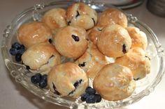 Glazed Blueberry Biscuit Bites