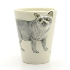 British Short Hair Cat Mug 00006 Original Hand Sculpt and Painting Art Ceramic Mug Coffee Cup Home Decorative Crafts  Original hand sculpt and hand paint British Short Hair Cat Mug  This Mug using a d