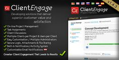 ClientEngage Project Platform - PHP Client Script . The ClientEngage Project Platform is an online portal which gives you the tools to more closely interact with your clients when you are working together on    projects. It provides you with an online platform on which you can interact with your clients. Some of the benefits of ClientEngage are
