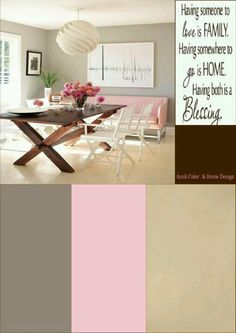 Pink taupe & beige moodboard made by anoli color & home design