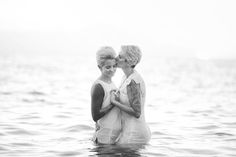 Australian couple Amanda Joy and Kara Voznaks eloped on the beach in Maui in July in a beautifully simple barefoot ceremony.