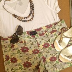Torrid Floral Shorts Size 18 from Torrid. Super cute and perfect for the resort!  Some pilling from thunder thighs. See picture!  These are super cute with a tee, sandals, and sunnies. torrid Shorts