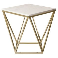 Galaxy Side Table With Gold Brushed Legs