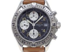 Used Breitling Colt Chrono Automatic A13035.1 Men's watch Beautiful w/Box #BREITLING