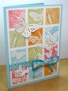 Butterfly Inchie Grid by mcost - Cards and Paper Crafts at Splitcoaststampers