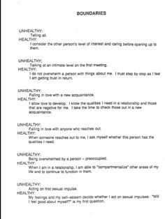 Worksheet Healthy Boundaries Worksheet we healthy and the ojays on pinterest both partners strive for boundaries in relationship outside relationships httppsychcentral