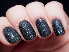 Glitter black nails glitter nail nail art black nails nail ideas nail designs shimmering