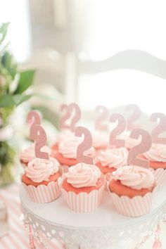 Celebrate your little girl's second birthday by throwing her a party fit for a princess. This peppy Pink Birthday Cakes, Girl Birthday Themes, Birthday Cake Girls, Birthday Cupcakes, 2nd Birthday Parties, Birthday Fun, Pink Cupcakes, Barney Birthday, Second Birthday Ideas