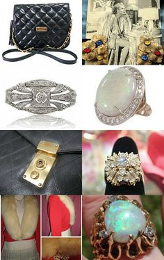 Lap of Luxury - A #Vintage #VogueTeam Treasury #rings #bracelets #fashion