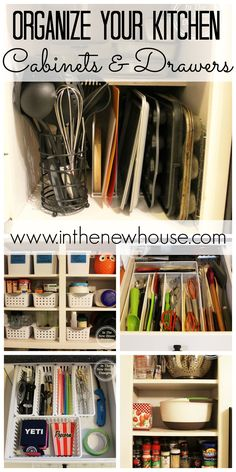 Organize your kitchen cabinets and drawers with these easy tips from In The New House Designs