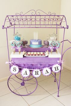 cupcakes and lollipops cart