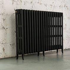 Arroll Neo-Classic 4 Cast Iron Column Radiator, Black Primer (W)1234 mm (H)760 mm | Departments | DIY at B&Q