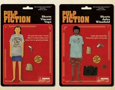 """illustrations of a pulp fiction action figures collection by maxim dalton, illustrated for the art show """"quentin vs. coen"""" in new york. Tarantino Pulp Fiction, Quentin Tarantino, Wes Anderson Characters, New York, Bachelor Of Fine Arts, Instagram Artist, Poses For Photos, Illustration Artists, Illustrations"""