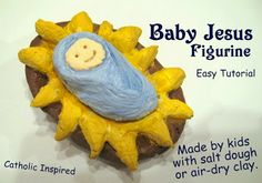 Create Baby Jesus with Clay or Salt Dough {Easy Tutorial}