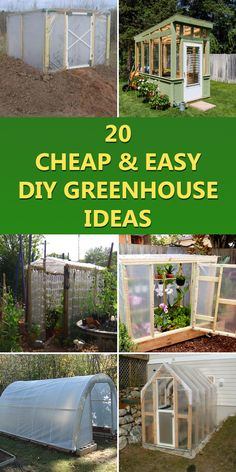 Greenhouse Plans 485122191113194221 - 20 Cheap & Easy DIY Greenhouse Ideas Source by giuliasiclari