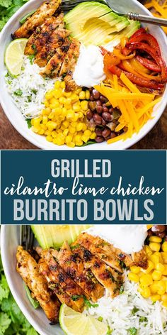 Zesty Cilantro Lime Chicken Burrito Bowls are better than takeout and can be cooked in around 15 minutes + marinating. Plus, there is a keto option that is as