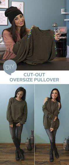 Die Refashion-Queen Eylem zeigt euch, wie ihr super einfach aus einem Oversize-Pullover einen echten Hingucker bastelt. Holt schon mal die Schere aus der Schublade!