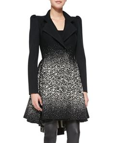 Carth+Puff-Shoulder+Flared+Coat+by+Alice+++Olivia+at+Neiman+Marcus.
