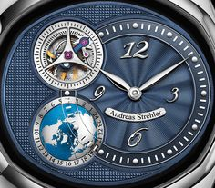The new Andreas Strehler Sauterelle à Heure Mondiale watch with images, price, background, specs, & our expert analysis. Omega Watch, Mens Fashion, Watches, Men's Style, Accessories, Basement, Clocks, Grasshoppers, Moda Masculina