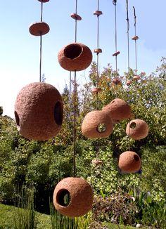 Stan Bitters; Ceramic Birdhouses. Ceramic Birds, Ceramic Clay, Ceramic Pottery, Clay Birds, Clay Projects, Clay Crafts, Diy And Crafts, Bird House Feeder, Bird Feeders