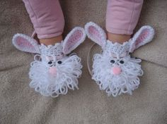 Very cute baby bunny slippers