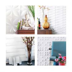 Wall Flats: lightweight dimensional wall tiles that create dimensional walls of any size and shape. Would make an excellent accent wall!