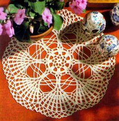 tejidos artesanales en crochet: carpeta rueda de abanicos