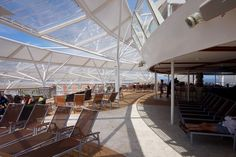 Harmony of the Seas, sun deck ETFE roof. New Harmony, Harmony Of The Seas, Luxury Holidays, Royal Caribbean, Time Out, We The People, Deck, The Incredibles, Sun